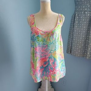 💥NWT Lilly Pulitzer Cosmos Lovers Coral top A89